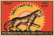 Phillumenart - Tiger Safety Matches