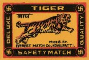 Phillumenart - Tiger Safety Match