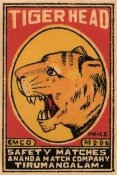 Phillumenart - Tiger Head Safety Matches