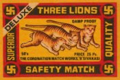 Phillumenart - Three Lions Safety Match