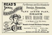 Advertisement - Read's 3 minute Head-Ache & Neuralgia Cure