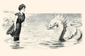 Charles Dana Gibson - No Wonder The Sea Serpent Frequents our Coast