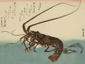Ando Hiroshige - Shrimp and lobster