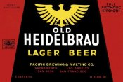 Vintage Booze Labels - Old Heidelbrau Lager Beer