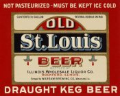 Vintage Booze Labels - Old St. Louis Beer