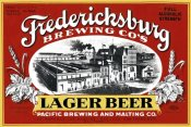 Vintage Booze Labels - Fredericksburg Brewing Co.'s Lager Beer