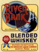 Vintage Booze Labels - River Bank Blended Whiskey