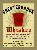 Vintage Booze Labels - Chesterbrook Whiskey