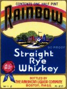 Vintage Booze Labels - Rainbow Straight Rye Whiskey