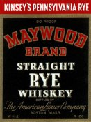 Vintage Booze Labels - Maywood Brand Straight Rye Whiskey