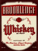 Vintage Booze Labels - Brookledge Whiskey