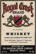 Vintage Booze Labels - Royal Crest Brand Whiskey