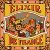 Vintage Booze Labels - Elixir de France