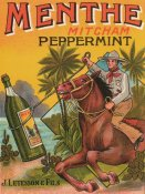 Vintage Booze Labels - Menthe Peppermint