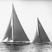 Edwin Levick - Sailboats in the America's Cup, 1934
