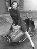 Unknown - Posing on Motor Scooter