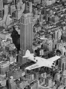 Unknown - Hawks Airplane in Flight over New York City