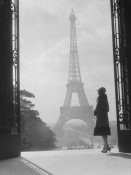 H. Armstrong Roberts - Woman looking toward Eiffel Tower