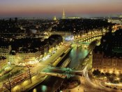 Michel Setboun - Overlooking Paris at Night