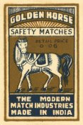 Phillumenart - Golden Horse Safety Matches