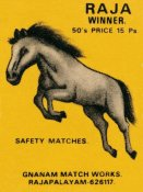 Phillumenart - Raja Winner Safety Matches