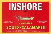 Retrolabel - Inshore Brand Squid - Calamares