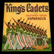 Retrolabel - King's Cadets California Green Asparagus