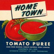Retrolabel - Home Town Brand Tomato Puree