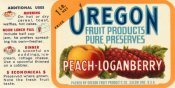 Retrolabel - Peach - Loganberry Preserves