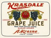Retrolabel - Kransdale Brand Grape Juice