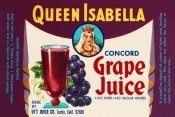 Retrolabel - Queen Isabella Concord Grape Juice