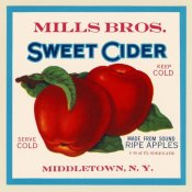 Retrolabel - Mills Bros. Sweet Cider
