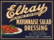 Retrolabel - Elkay Mayonnaise Salad Dressing
