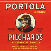 Retrolabel - Portola Brand Pilchards