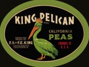 Retrolabel - King Pelican California Peas