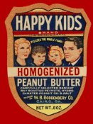 Retrolabel - Happy Kids Homogenized Peanut Butter