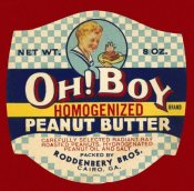 Retrolabel - Oh! Boy Homogenized Peanut Butter