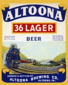Vintage Booze Labels - Altoona 36 Lager Beer