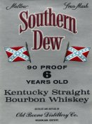Vintage Booze Labels - Southern Dew Kentucky Straight Bourbon Whiskey