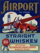 Vintage Booze Labels - Airport Straight Whiskey