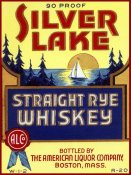Vintage Booze Labels - Silver Lake Straight Rye Whiskey