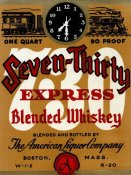 Vintage Booze Labels - Seven-Thirty Express Blended Whiskey