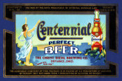 Vintage Booze Labels - Centennial Perfect Beer Label