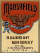 Vintage Booze Labels - Marshfield Bourbon Whiskey