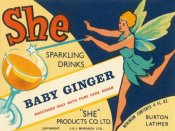 Vintage Booze Labels - Baby Ginger