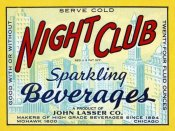 Vintage Booze Labels - Night Club Sparkling Beverage