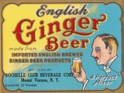 Vintage Booze Labels - English Ginger Beer