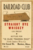 Vintage Booze Labels - Railroad Club Straight Rye Whiskey