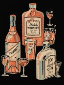 Vintage Booze Labels - Whiskey, Wine & Gin