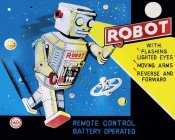 Retrobot - Robot with Flashing Lighted Eyes